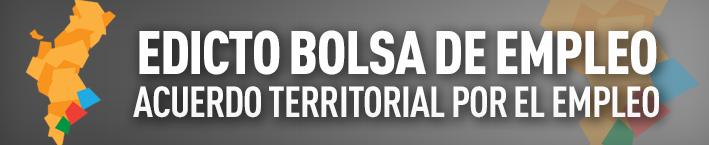 Edicto bolsa de empleo – Acuerdo Territorial por el Empleo