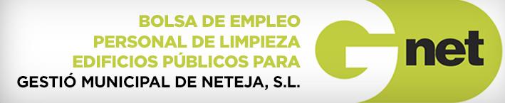 Bolsa de empleo personal de limpieza edificios públicos para gestió municipal de NETEJA, S.L.
