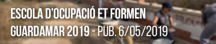 Escoles d'ocupació ET FORMEN «Guardamar 2019» Expediente: FETF2/2019/13/03
