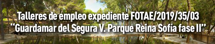 Talleres de empleo expediente: FOTAE/2019/35/03. «Guardamar del Segura V. Parque reina sofía fase II»